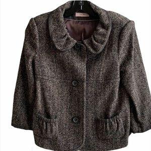 Laurel tweed herringbone jacket